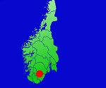 Karte Ferienhaus in Südnorwegen